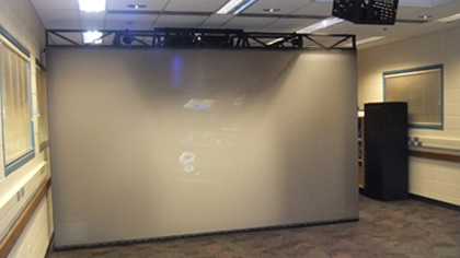 One-wall projection system